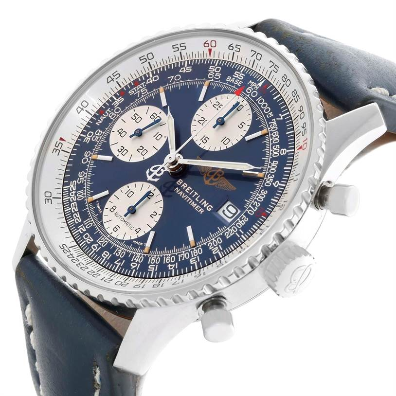 Breitling Navitimer II Blue Dial Automatic Steel Watch A13022 SwissWatchExpo