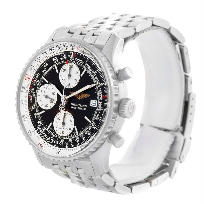 11495 Breitling Navitimer Fighter Automatic Chronograph Steel Watch A13330 SwissWatchExpo