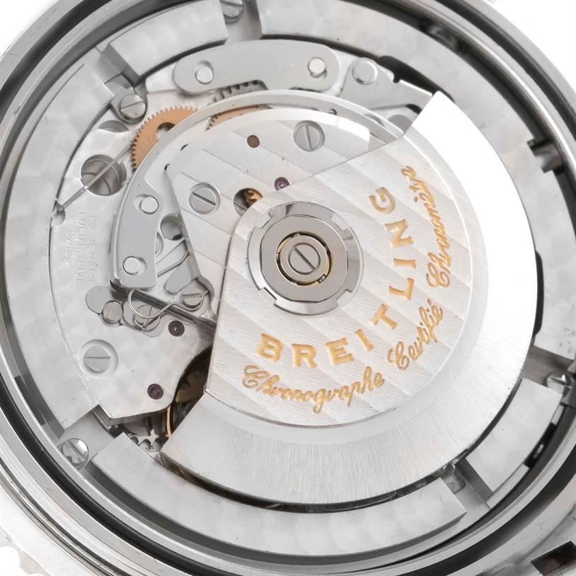 Breitling Navitimer World GMT Black Dial Steel Bracelet Watch A24322 SwissWatchExpo