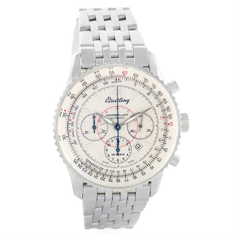 Breitling Navitimer Montbrilliant Chronograph Steel Mens Watch A41330 SwissWatchExpo