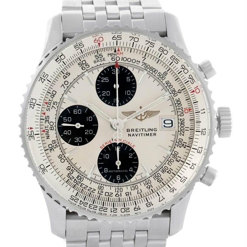 11571 Breitling Navitimer Fighter Chronograph Steel Watch A13330 Unworn SwissWatchExpo