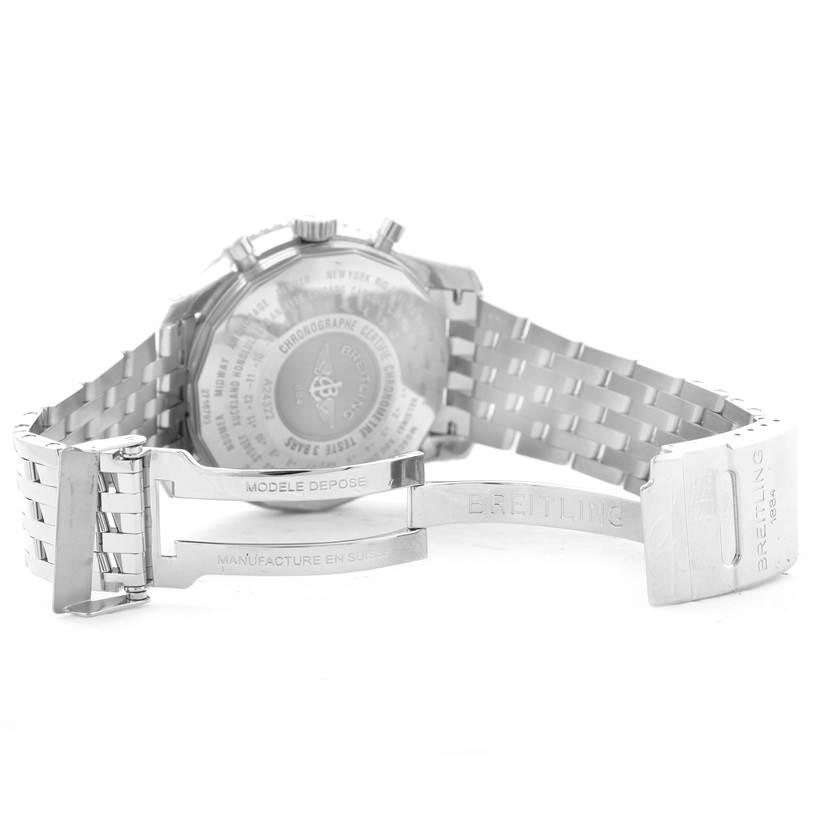 Breitling Navitimer World Silver Dial Steel Watch A24322 Unworn SwissWatchExpo