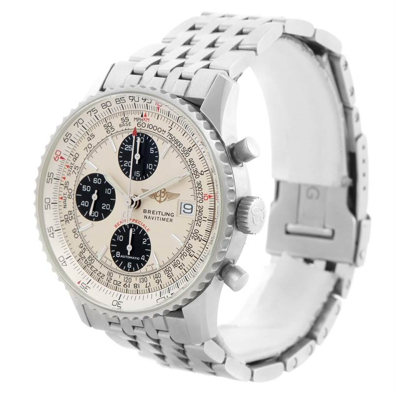 Breitling Navitimer Fighter Chronograph Stainless Steel Watch A13330 SwissWatchExpo