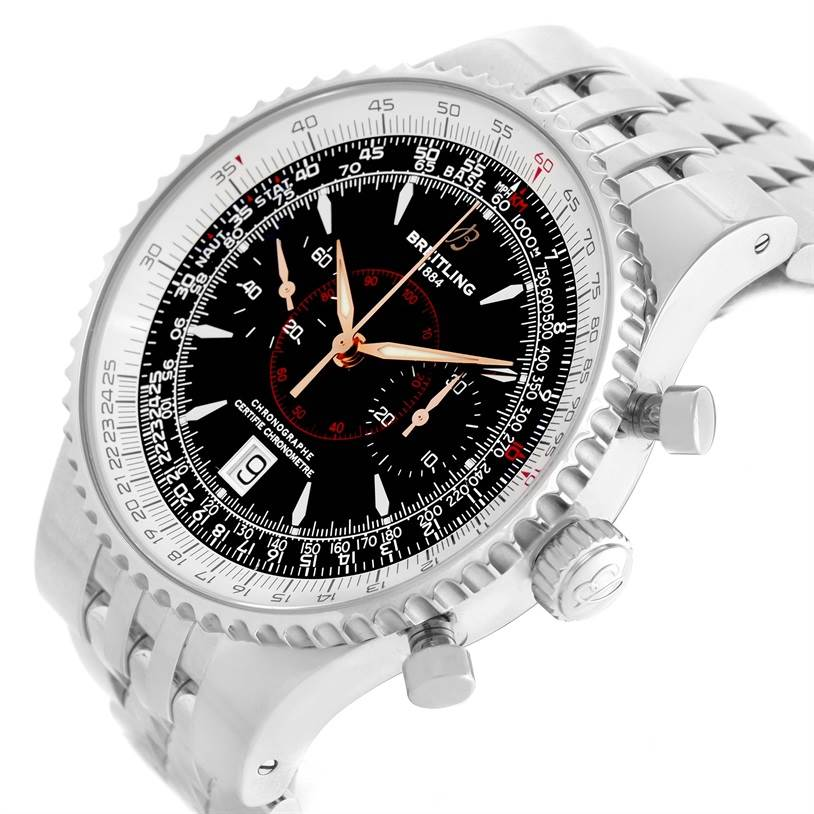 11681 Breitling Montbrillant Legende Stainless Steel Mens Watch A23340 SwissWatchExpo