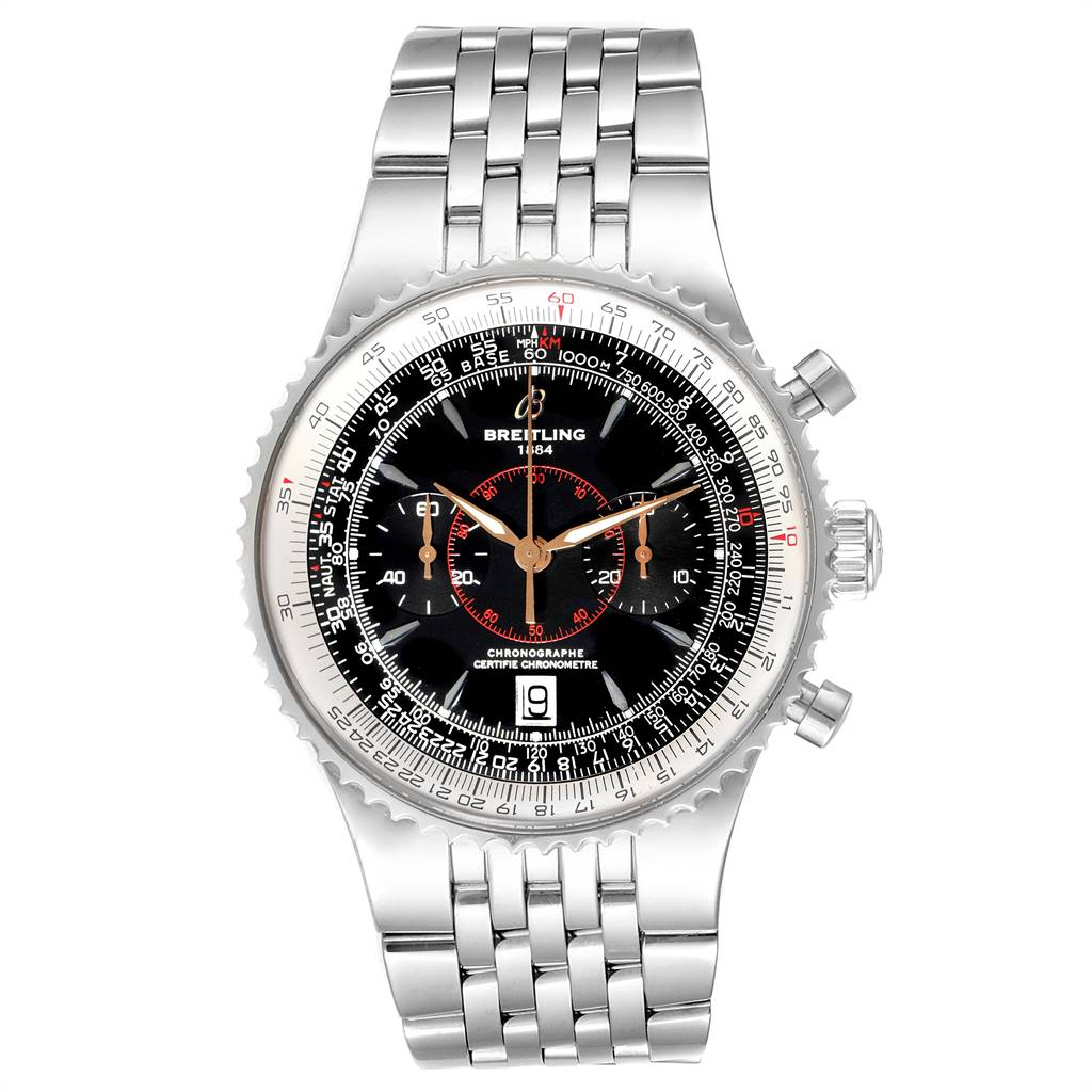 Breitling Montbrillant Legende Stainless Steel Mens Watch A23340 SwissWatchExpo