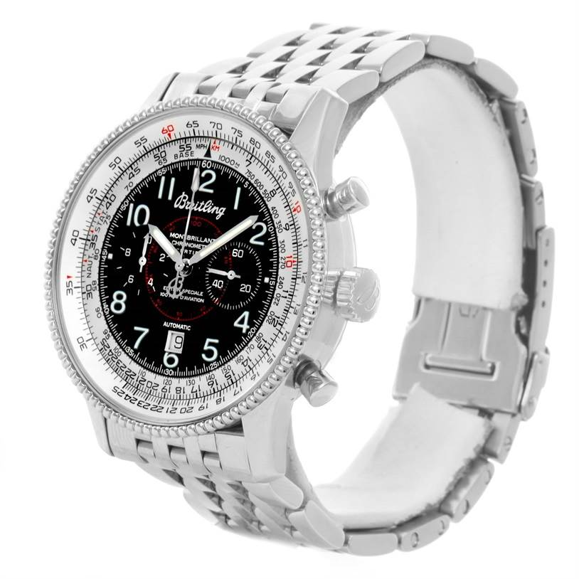 Breitling Navitimer Montbrillant Steel Special Edition Watch A35330 SwissWatchExpo