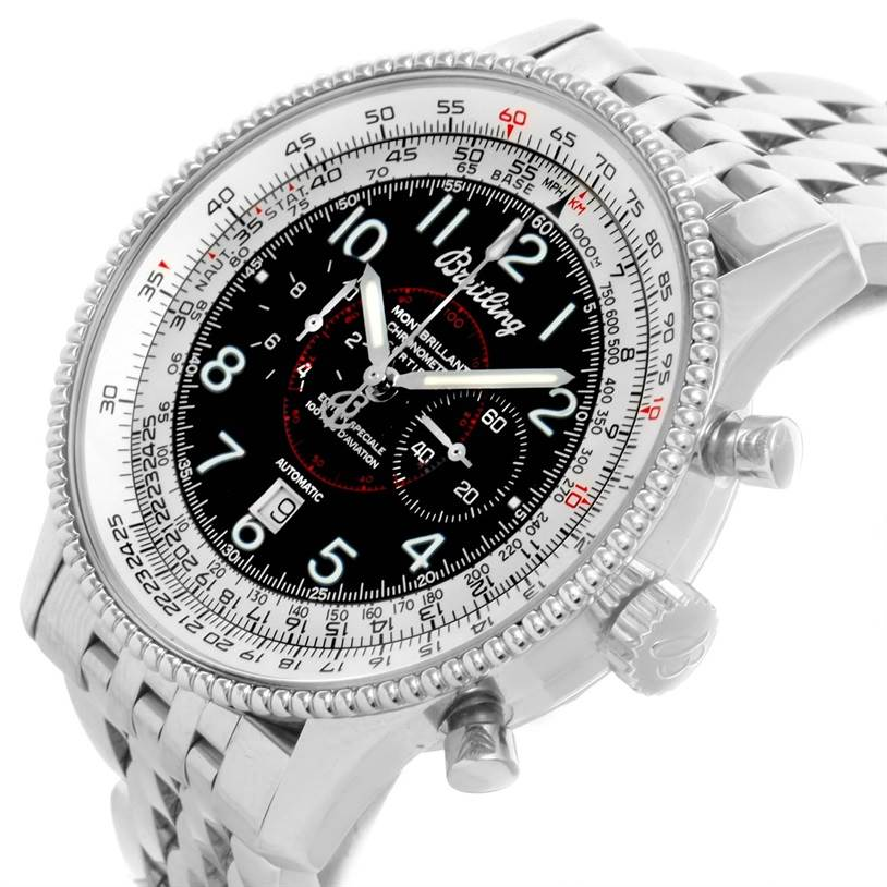 12001 Breitling Navitimer Montbrillant Steel Special Edition Watch A35330 SwissWatchExpo