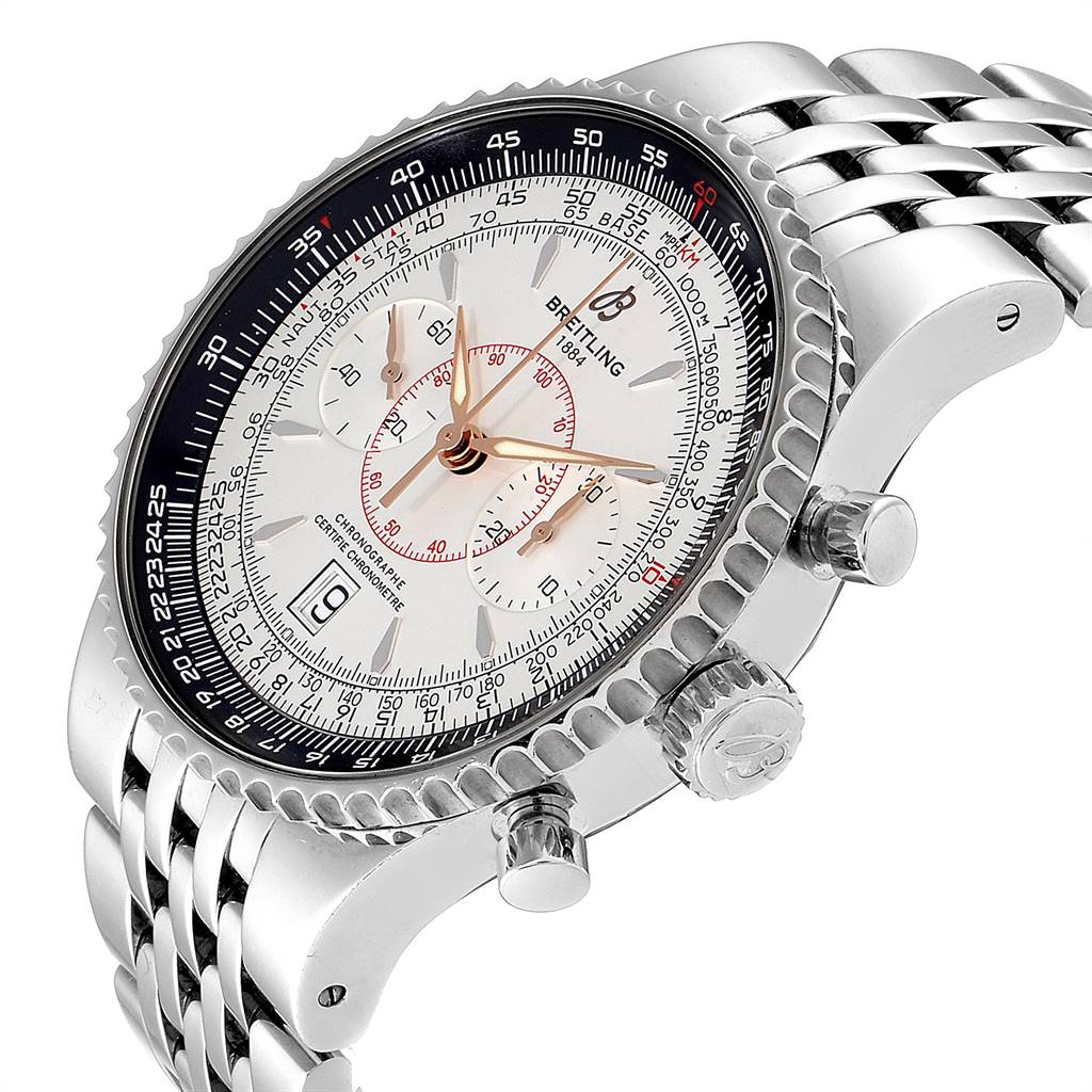 Breitling Montbrillant Legende Silver Dial Steel Mens Watch A23340 Box Papers SwissWatchExpo