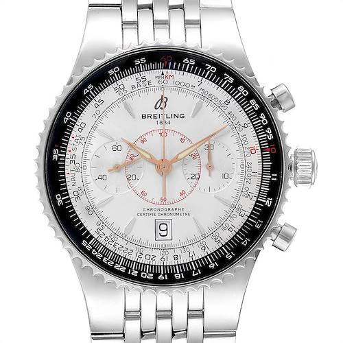 Photo of Breitling Montbrillant Legende Silver Dial Steel Mens Watch A23340 Box Papers