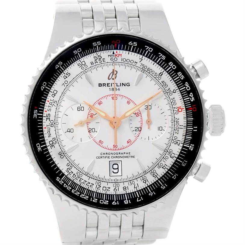 11971 Breitling Montbrillant Legende Silver Dial Steel Mens Watch A23340 SwissWatchExpo