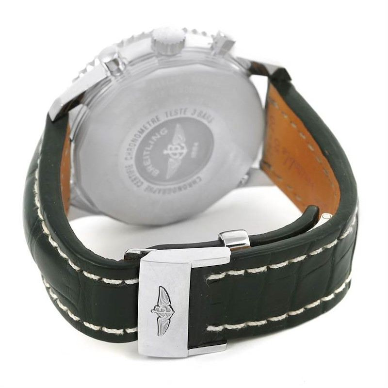 Breitling Navitimer World Chronograph GMT Black Strap Watch A24322 SwissWatchExpo