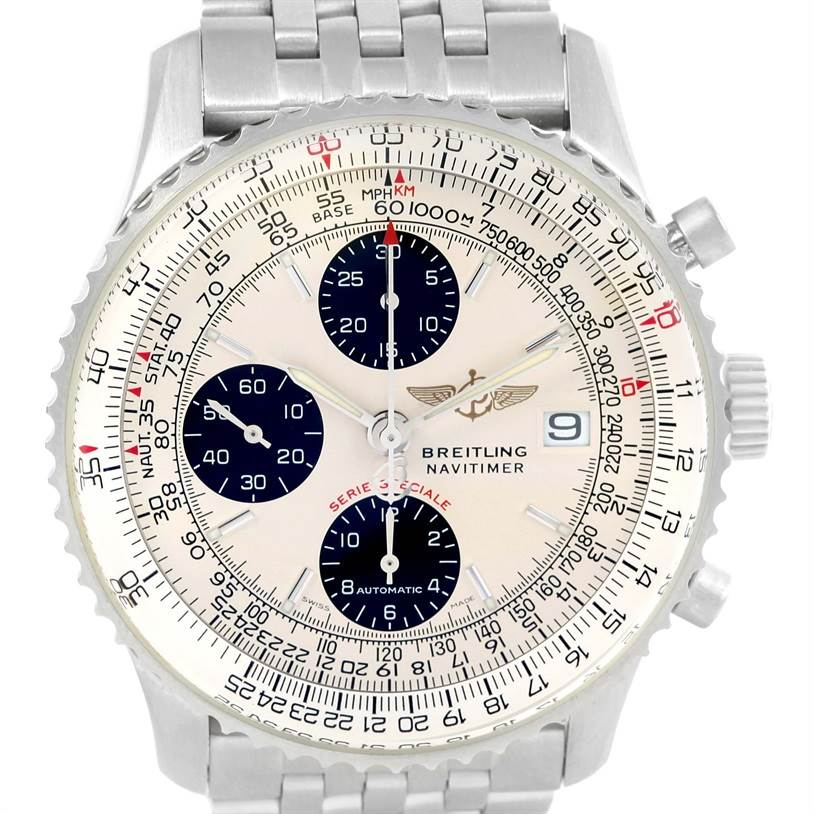 Breitling Navitimer Fighter Chronograph Mens Watch A13330 Unworn SwissWatchExpo