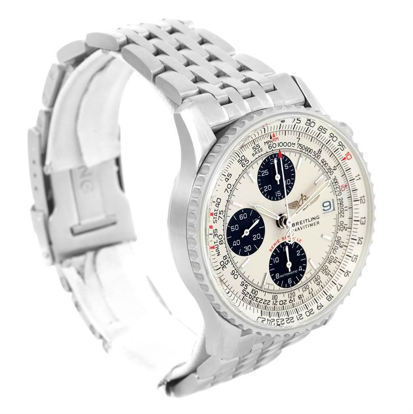 12890 Breitling Navitimer Fighter Chronograph Mens Watch A13330 Unworn SwissWatchExpo