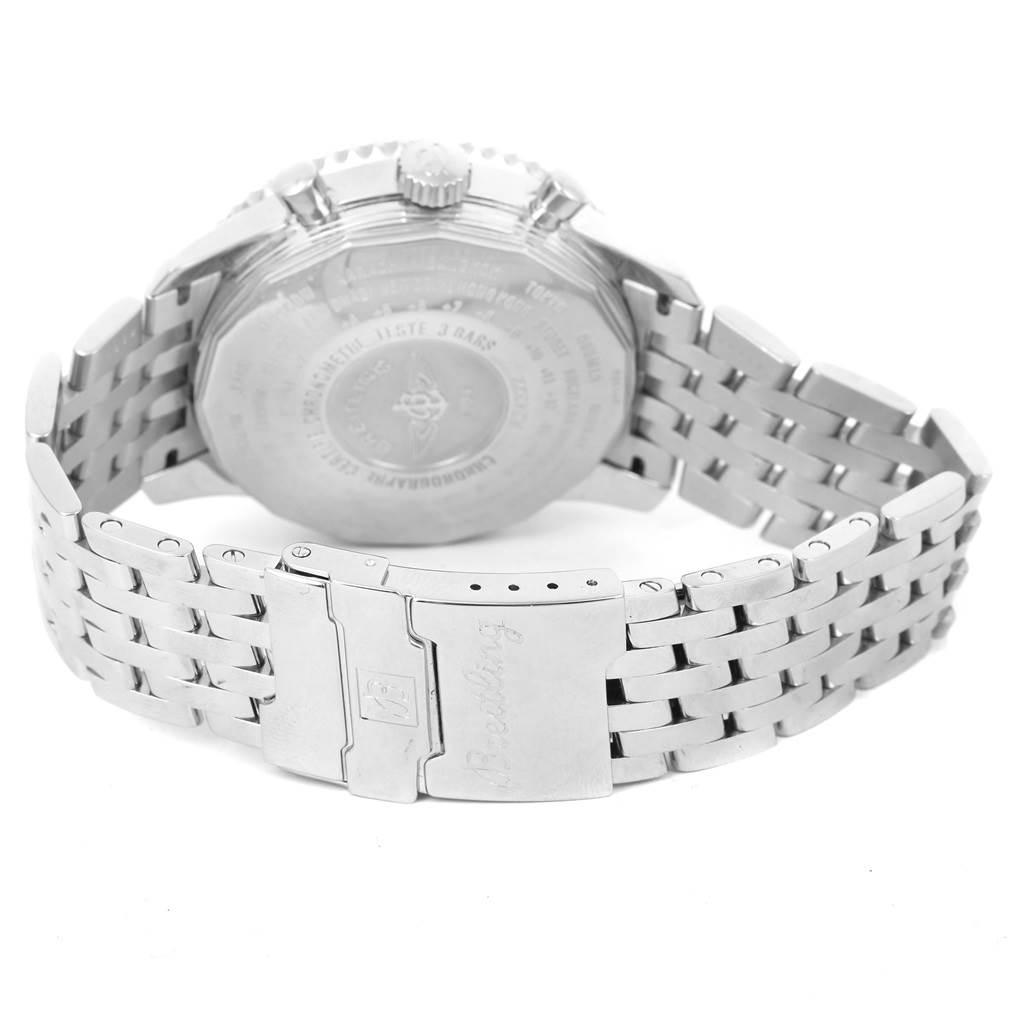 Breitling Navitimer World Silver Dial Steel Mens Watch A24322 SwissWatchExpo