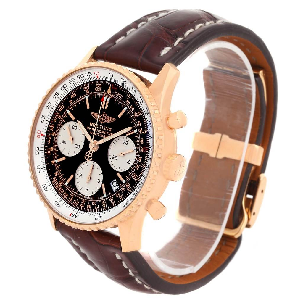 Breitling Navitimer 18K Rose Gold Limited Edition Mens Watch R23322 SwissWatchExpo