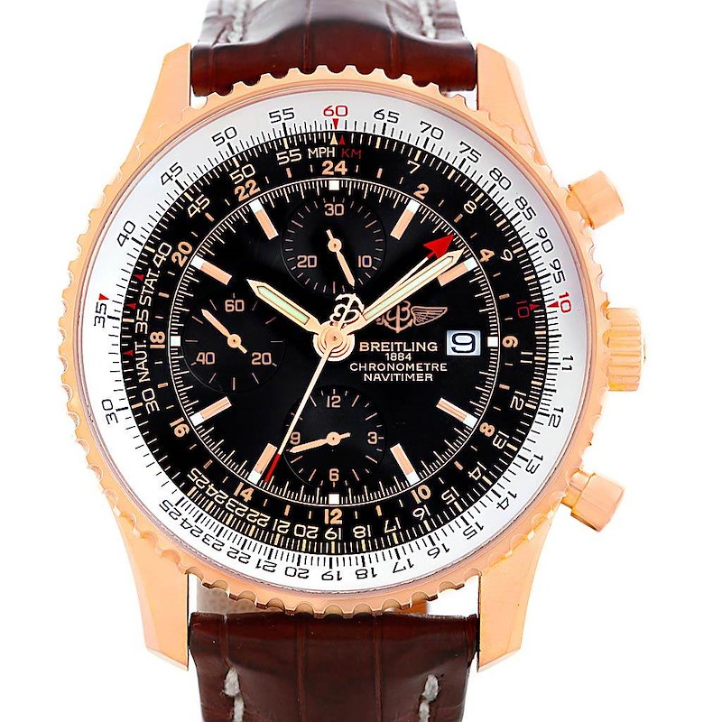 Breitling Navitimer World 18K Rose Gold Limited Edition Watch R24322 SwissWatchExpo