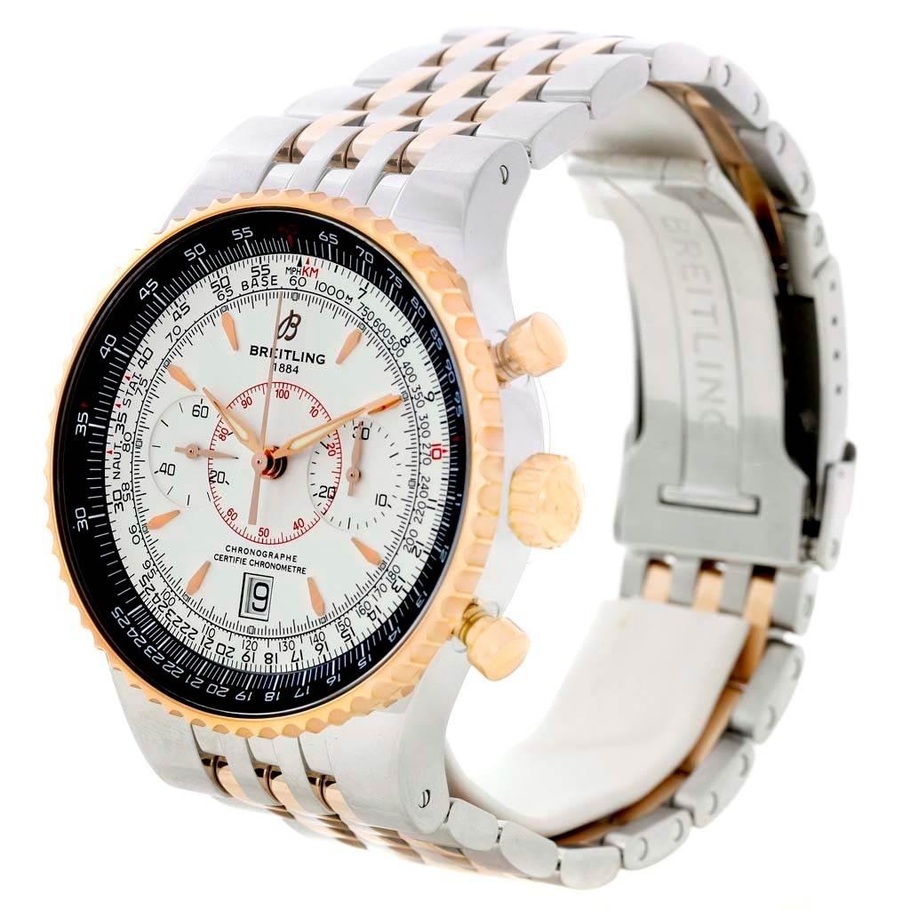 Breitling Montbrillant Legende Steel Rose Gold Silver Dial Watch C23340 SwissWatchExpo