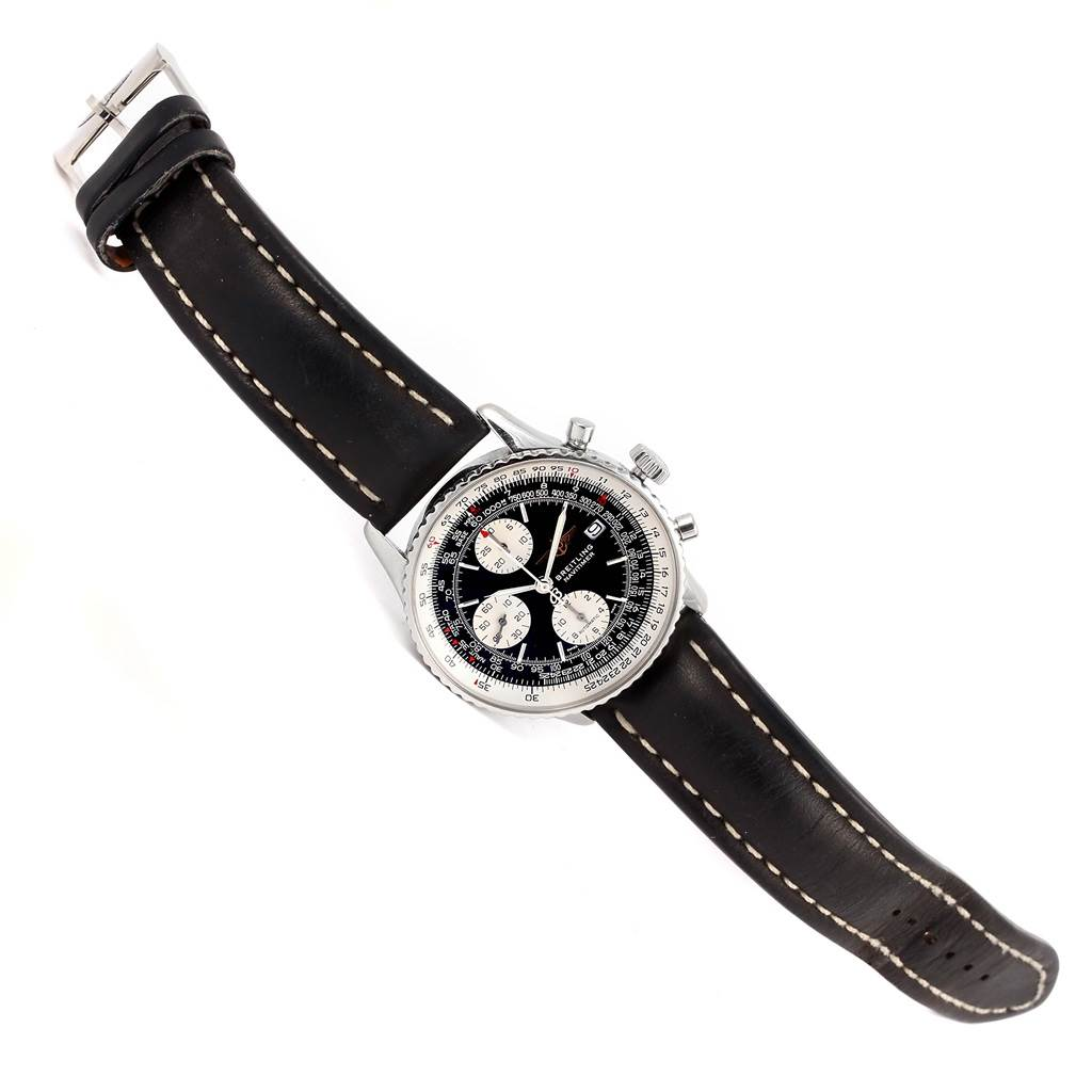 Breitling Navitimer II Automatic Steel Black Dial Mens Watch A13322 SwissWatchExpo