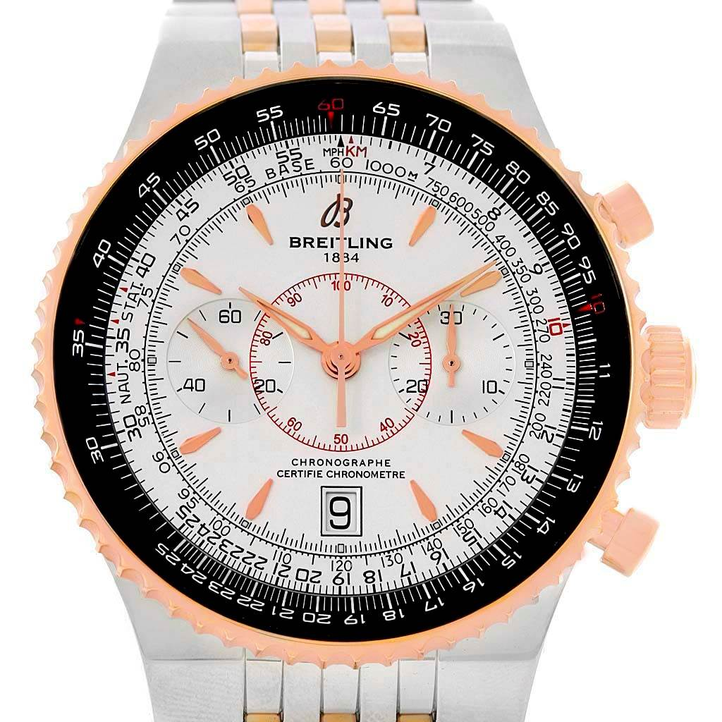 14784 Breitling Montbrillant Legende Steel Rose Gold Watch C23340 Box Papers SwissWatchExpo