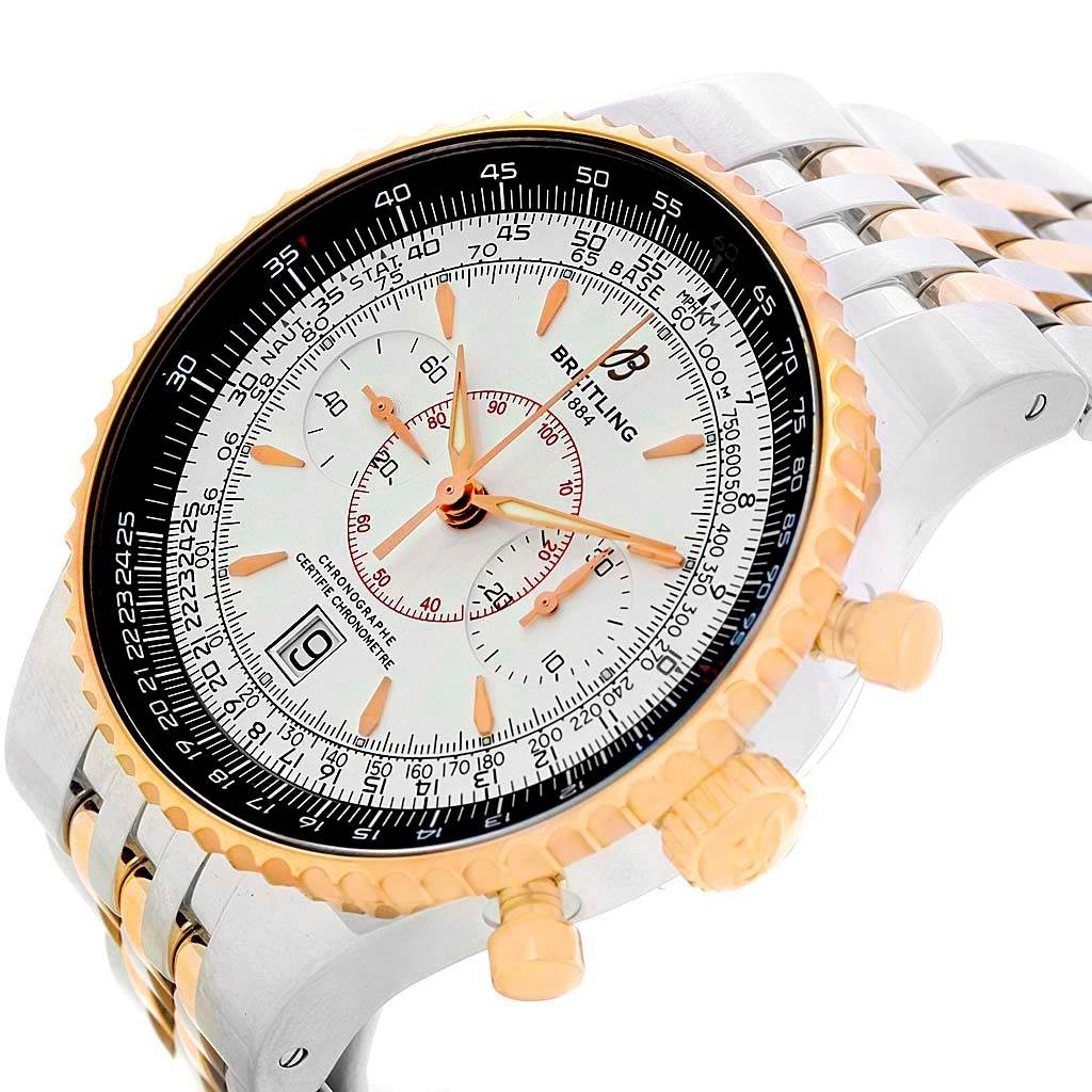 Breitling Montbrillant Legende Steel Rose Gold Watch C23340 Box Papers SwissWatchExpo