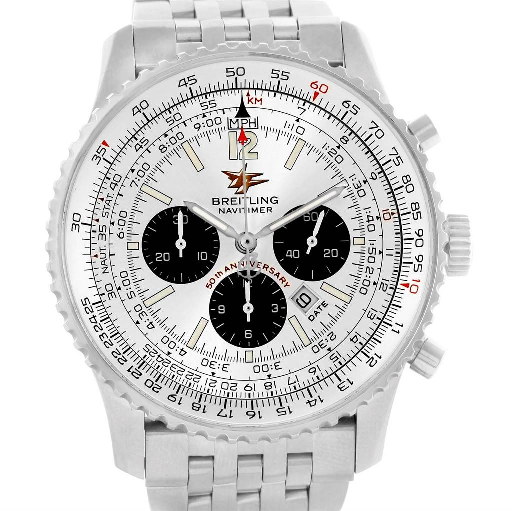 14556 Breitling Navitimer 50th Anniversary Chronograph Mens Watch A41322 SwissWatchExpo