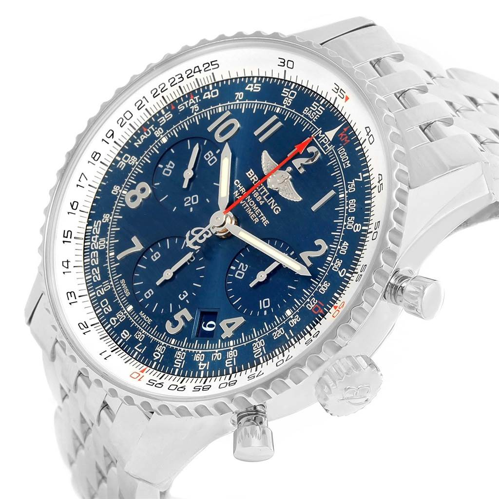 Breitling Navitimer 01 Blue Dial Automatic Limited Edition Watch AB0121 SwissWatchExpo