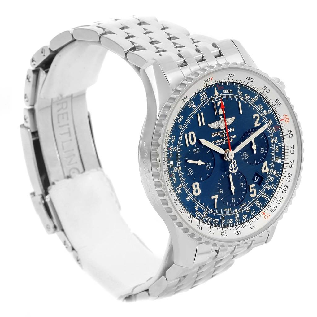15009 Breitling Navitimer 01 Blue Dial Automatic Limited Edition Watch AB0121 SwissWatchExpo