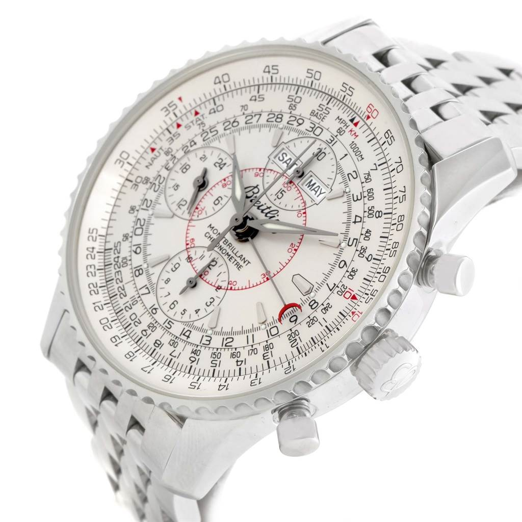 15012 Breitling Navitimer Montbrillant Datora Silver Dial Mens Watch A21330 SwissWatchExpo