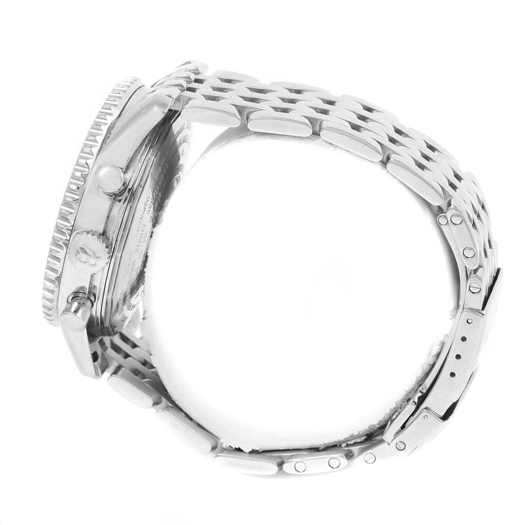 13415X Breitling Navitimer World Silver Dial Steel Mens Watch A24322 SwissWatchExpo