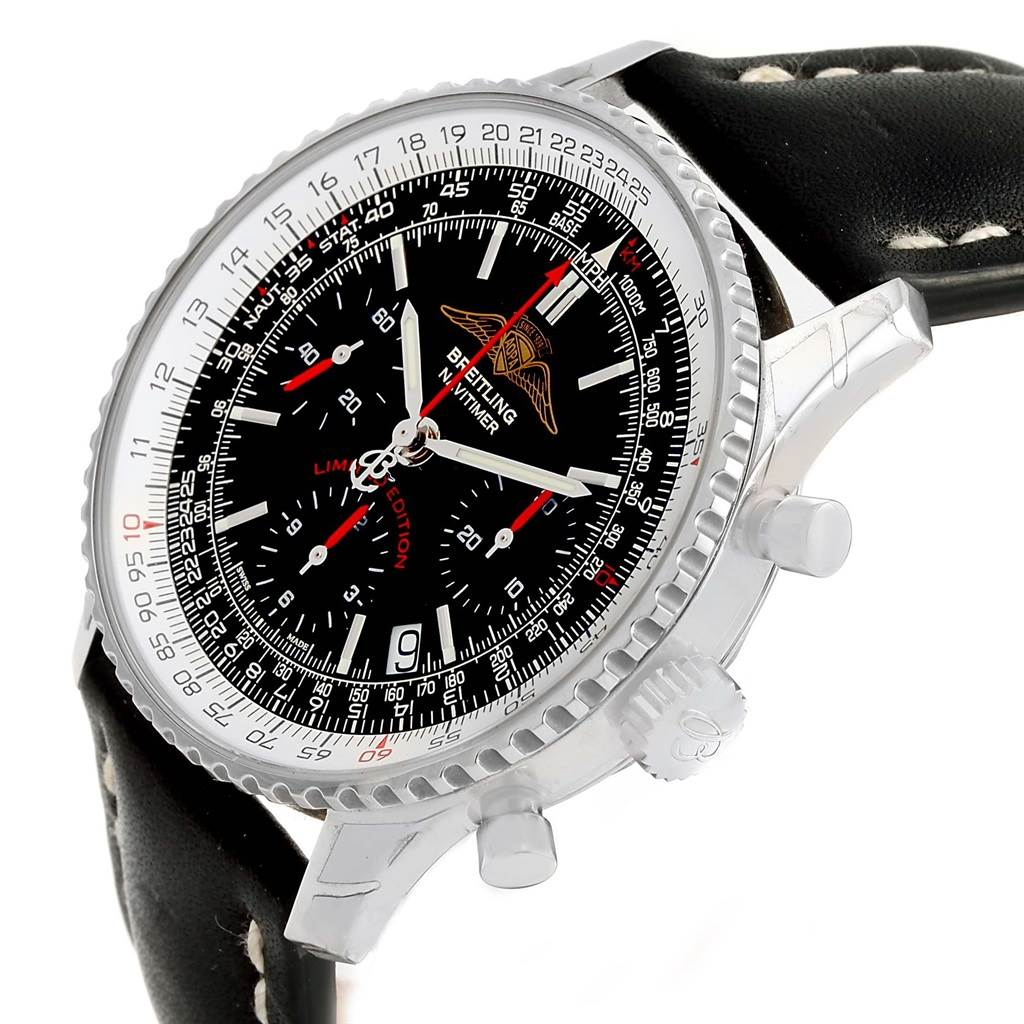 15508 Breitling Navitimer AOPA Black Dial LE Mens Watch A23322 Unworn SwissWatchExpo
