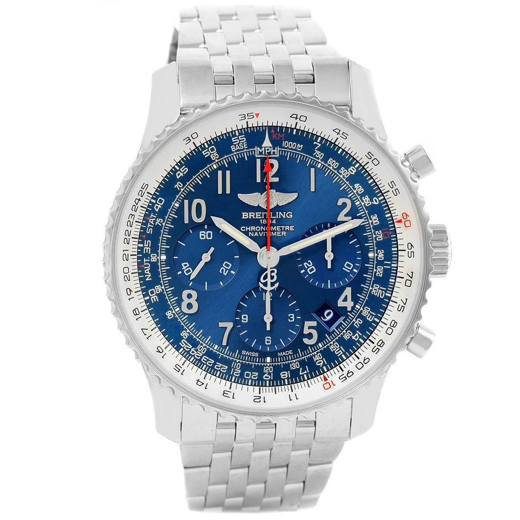 15515 Breitling Navitimer 01 Blue Dial Limited Edition Watch AB0121 Unworn SwissWatchExpo