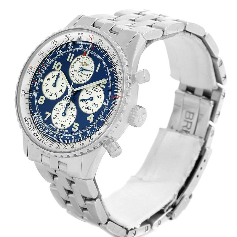 Breitling Navitimer Airborne Blue Dial Mens Watch A33030 Box Papers SwissWatchExpo