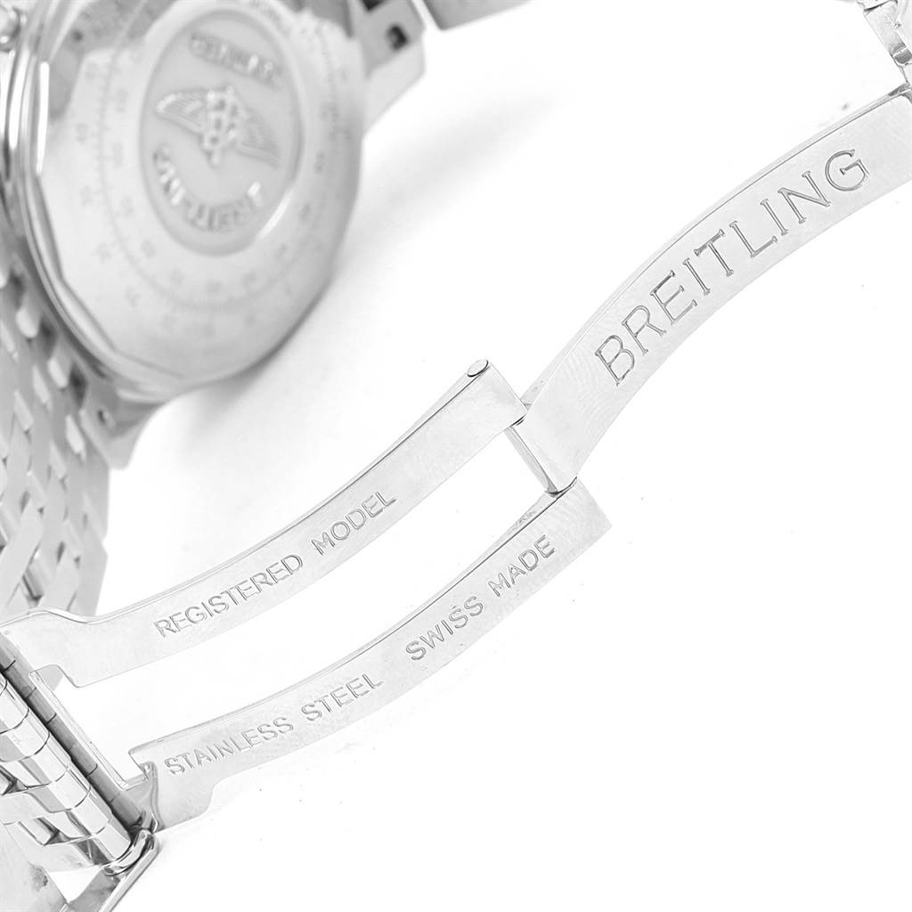 Breitling Navitimer Cosmonaute Blue Dial Chronograph Watch A12022 SwissWatchExpo