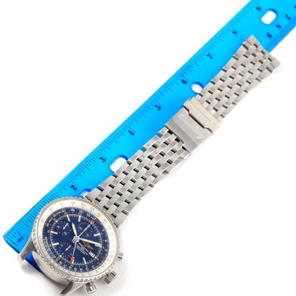 Breitling Navitimer World Blue Dial Steel Mens Watch A24322 SwissWatchExpo