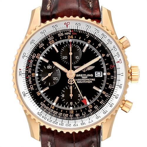 Photo of Breitling Navitimer World Rose Gold Black Dial Limited Edition Watch H24322
