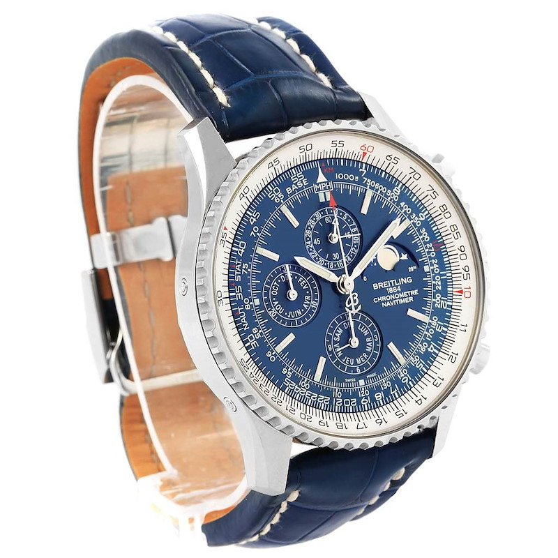 Breitling Navitimer 1461 Chrono Moonphase Limited Edition Watch A19370 SwissWatchExpo