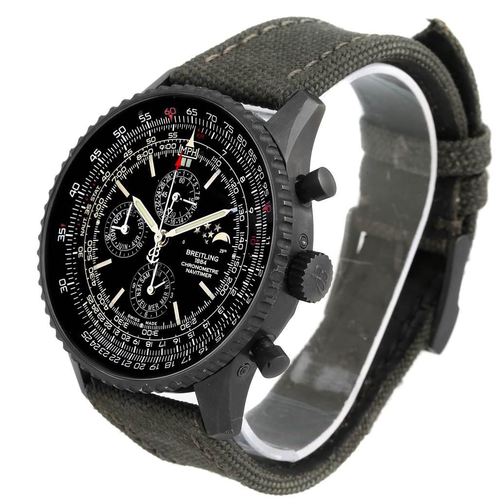 Breitling Navitimer 1461 Blacksteel 48mm Limited Edition Watch M19380 SwissWatchExpo
