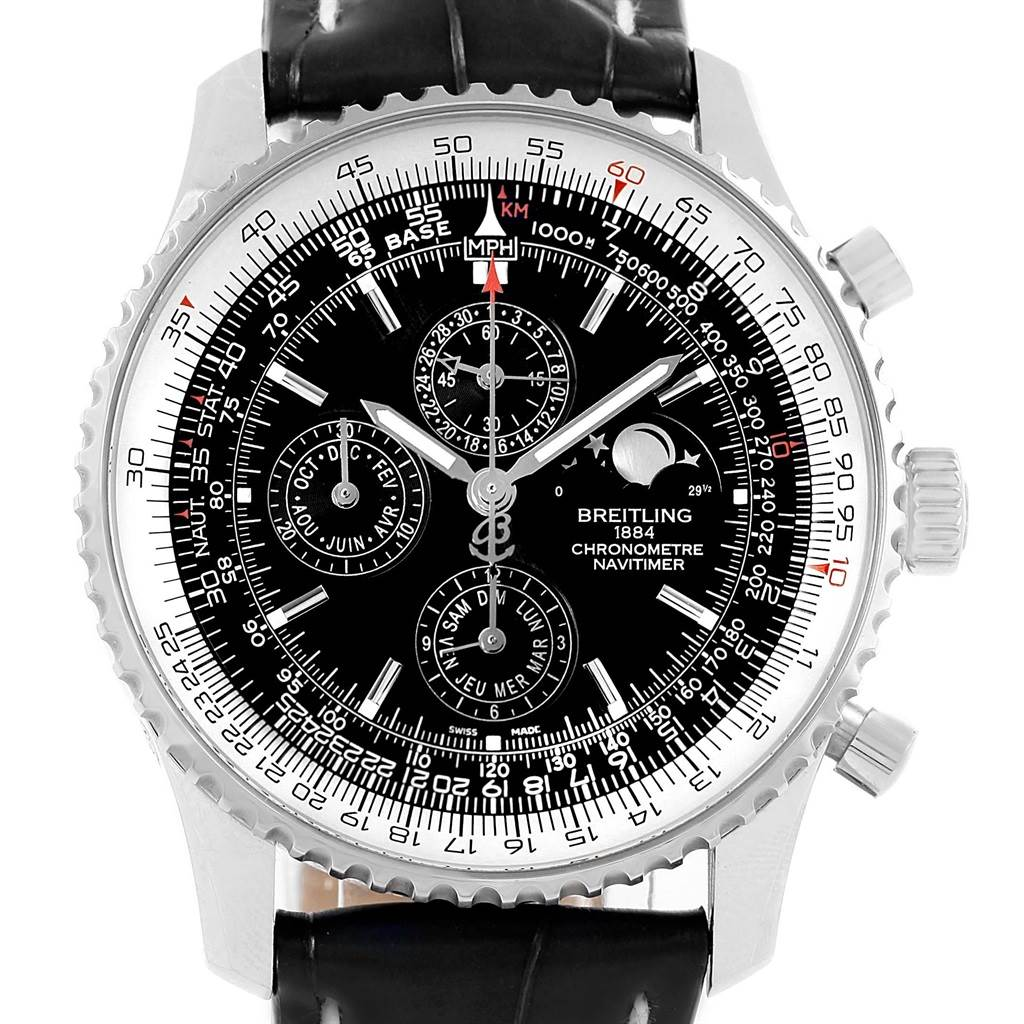 17027 Breitling Navitimer 1461 Chrono Moonphase Limited Edition Watch A19370 Box Papers SwissWatchExpo