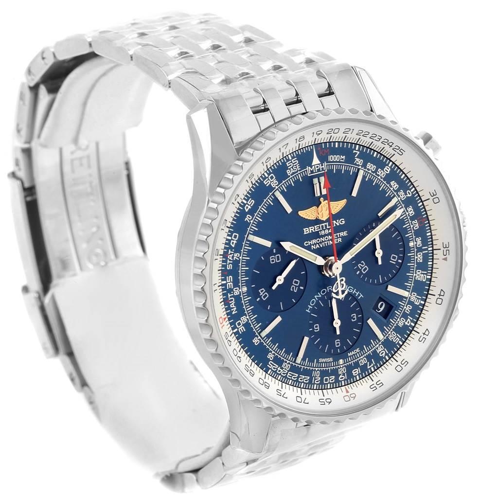 Breitling Navitimer 01 Blue Dial Automatic Steel Watch AB0120 Unworn SwissWatchExpo