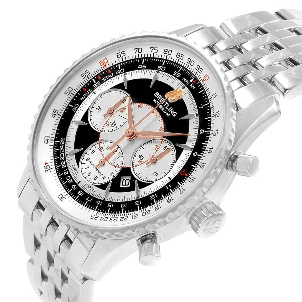18443 Breitling Navitimer Montbrillant Steel Chronograph Mens Watch A41370 SwissWatchExpo
