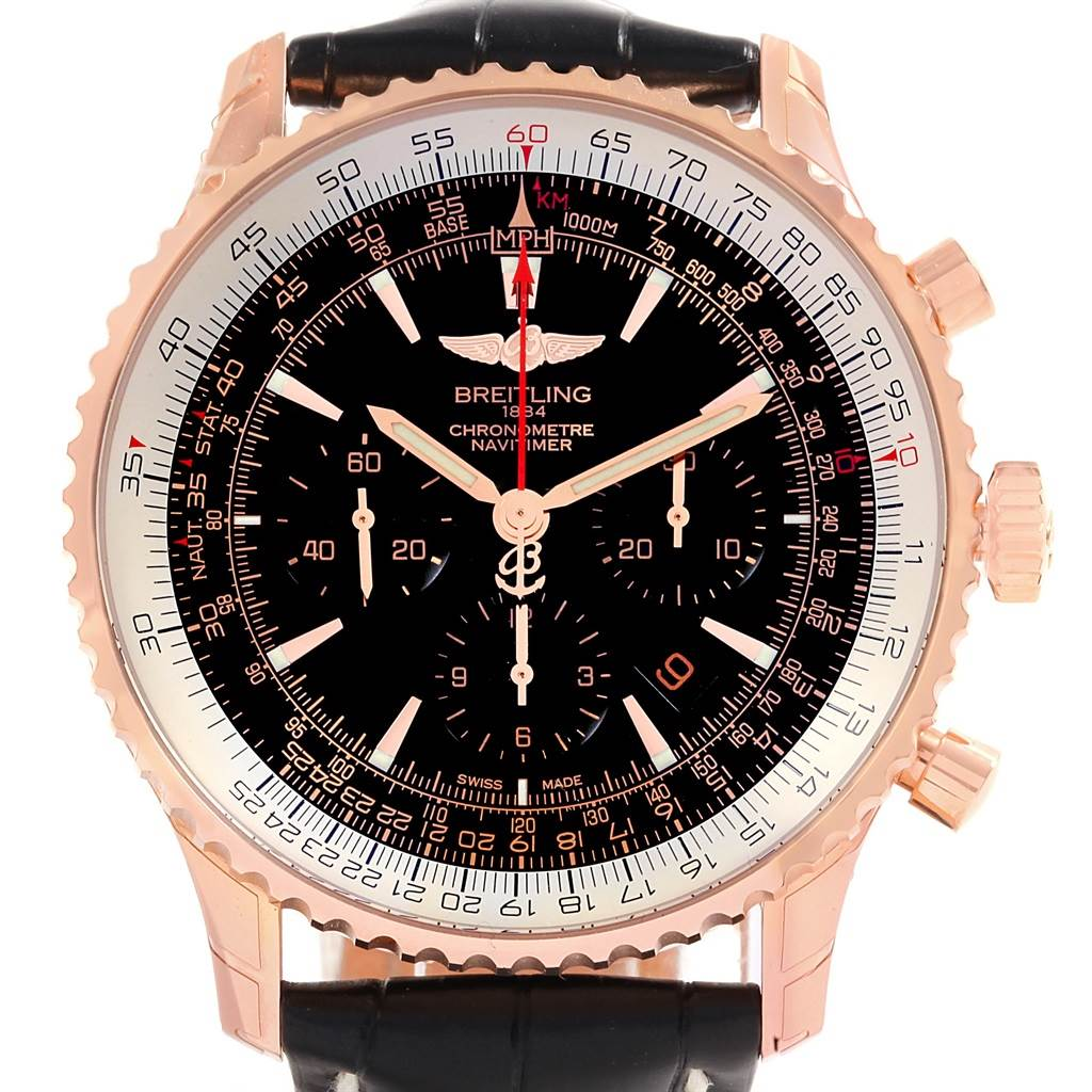 Breitling Navitimer Rose Gold Limited Edition Watch RB0127 Unworn SwissWatchExpo