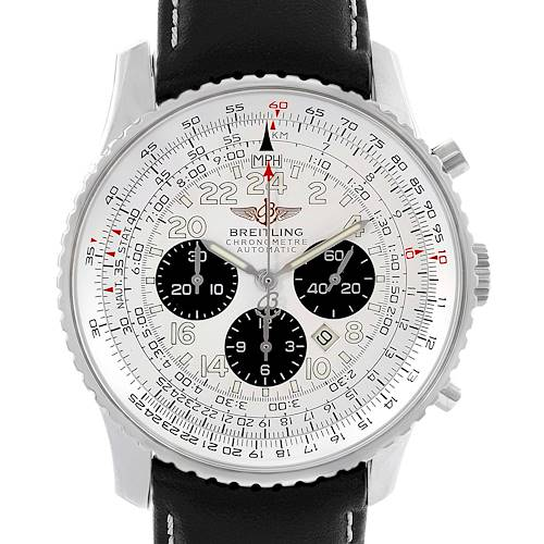 Photo of Breitling Navitimer Cosmonaute Black Strap Steel Mens Watch A22322