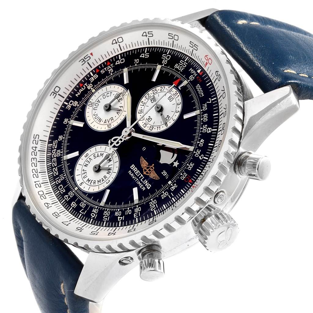 Breitling Navitimer Montbrillant Olympus Moonphase Mens Watch A19340 SwissWatchExpo