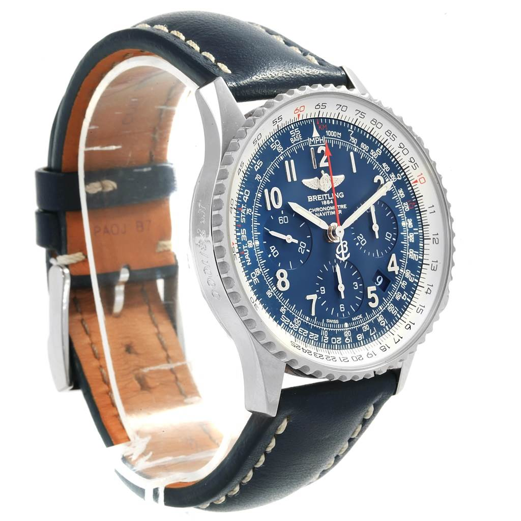 18467 Breitling Navitimer 01 Blue Dial Limited Edition Watch AB0121 Box Papers  SwissWatchExpo