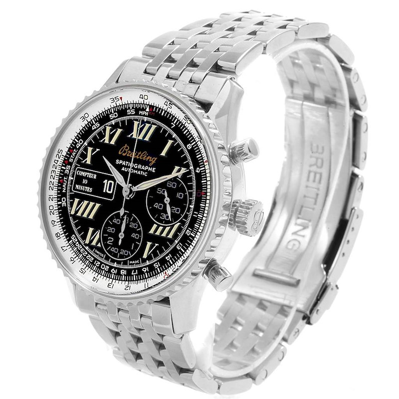 Breitling Navitimer Spatiographe 10 Minute Totalizer Mens Watch A36030 SwissWatchExpo