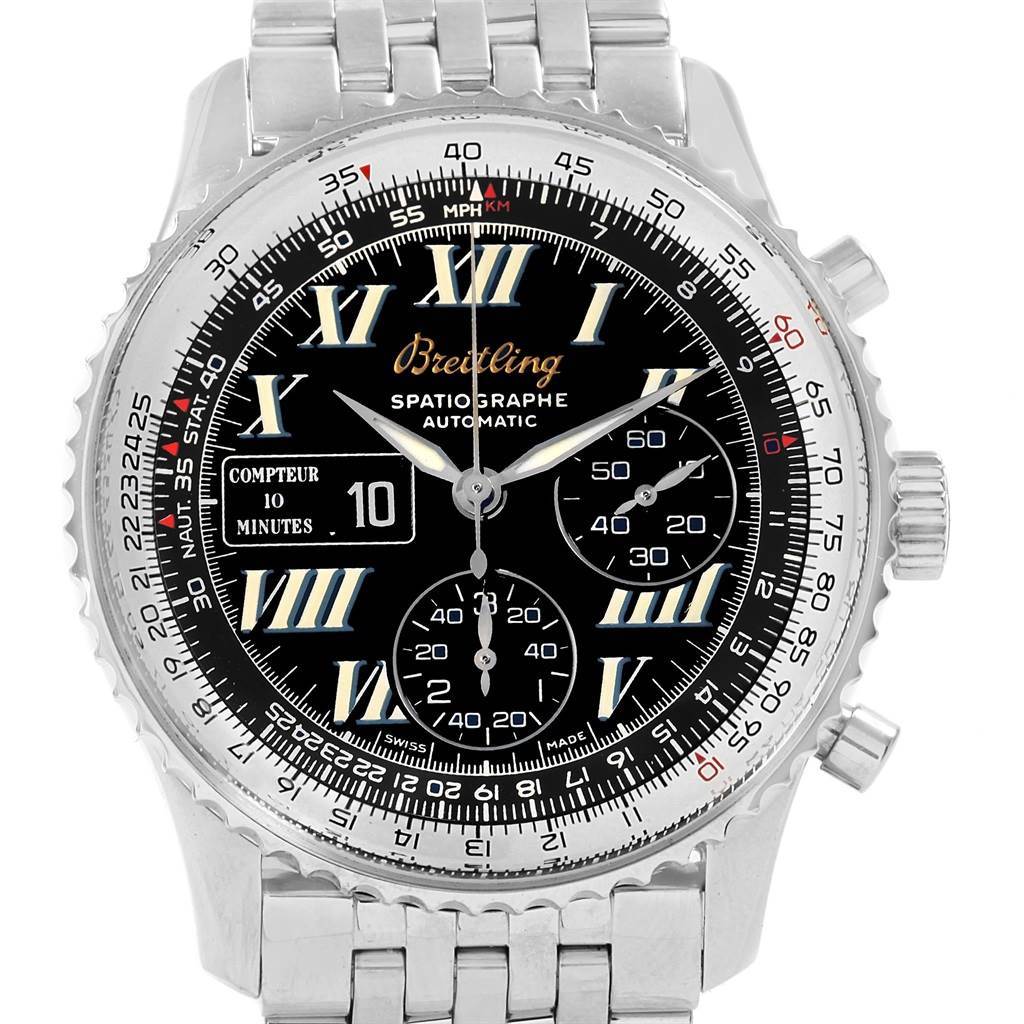 18512 Breitling Navitimer Spatiographe 10 Minute Totalizer Mens Watch A36030 SwissWatchExpo
