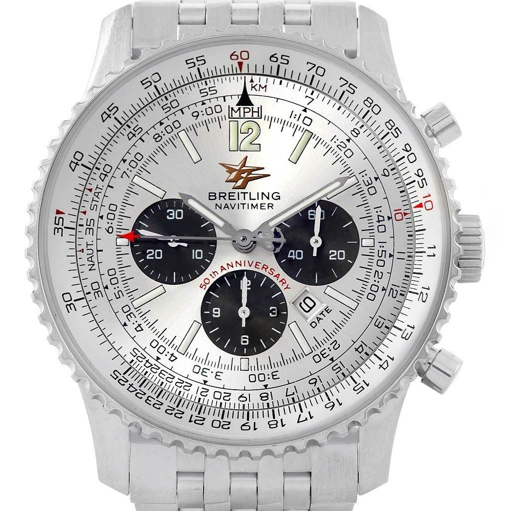Breitling Navitimer 50th Anniversary Mens Watch A41322 Box Papers SwissWatchExpo