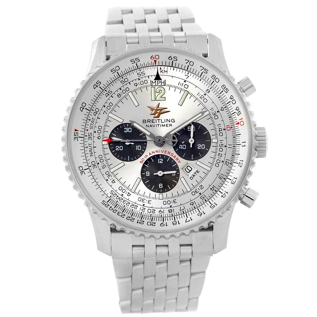 18877 Breitling Navitimer 50th Anniversary Mens Watch A41322 Box Papers SwissWatchExpo