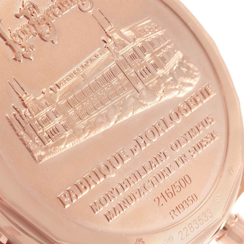 19029 Breitling Montbrillant Olympus Rose Gold Limited Edition Watch R19350 SwissWatchExpo