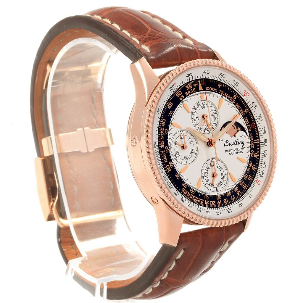Breitling Montbrillant Olympus Rose Gold Limited Edition Watch R19350 SwissWatchExpo